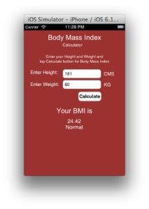 Bmi Calculator App