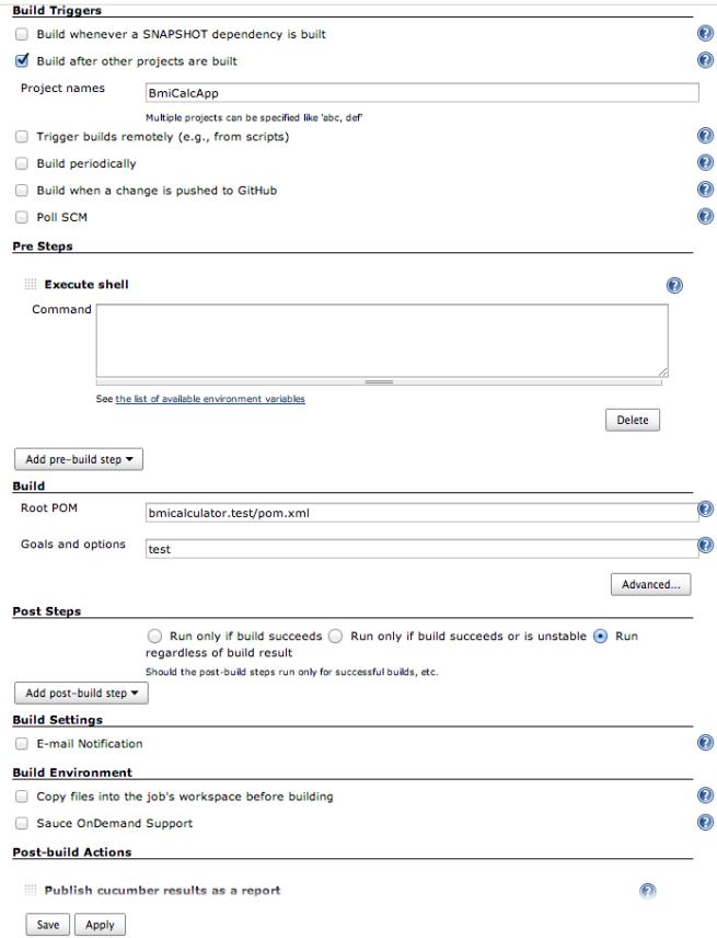 Jenkins Test Project Build Configuration